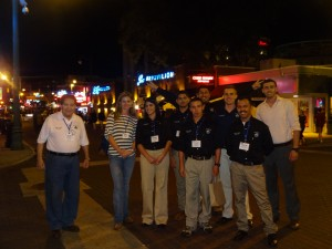 Cal Poly Pomona Student Chapter Members and Faculty Advisor Professor Alvarez on the famous Beale Street in Memphis.