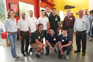 The Cal Poly Pomona student Chapter with Professor Tariq, Professor Mario Alvarez and Moussoud Moussvi, Ph.D. attend the Go-Karting event.